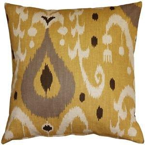 Pillow Decor - Indah Ikat Yellow 20x20 Throw Pillow  - SKU: VB1-0029-04-20