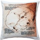 Pillow Decor - Dreaming Dog Throw Pillow 17x17  - SKU: LE1-0046-01-17