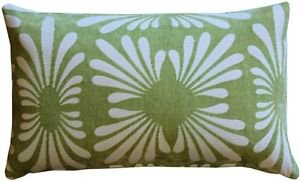 Pillow Decor - Velvet Daisy Green 12x20 Throw Pillow  - SKU: DC1-0005-04-92
