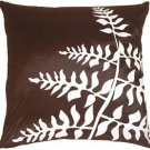 Pillow Decor - Brown with White Bold Fern Throw Pillow  - SKU: KB1-0009-02-20