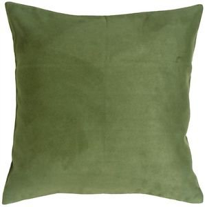 Pillow Decor - 18x18 Royal Suede Forest Green Throw Pillow