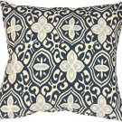 Pillow Decor - Alhambra Handprint Indigo 15x15 Throw Pillow