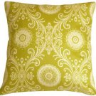 Pillow Decor - Filigree Green 17x17 Throw Pillow  - SKU: WB1-0009-02-17