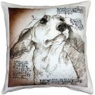 Pillow Decor - Dachshund 17x17 Dog Pillow  - SKU: LE1-0013-01-17