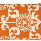 Pillow Decor - Waverly Fun Floret Citrus Orange 12x20 Throw Pillow