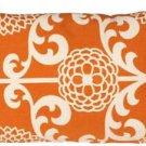 Pillow Decor - Waverly Fun Floret Citrus Orange 12x20 Throw Pillow