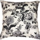 Pillow Decor - Tuscany Linen Floral Print 20x20 Throw Pillow