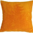 Pillow Decor - Wide Wale Corduroy Light Orange 18x18 Throw Pillow