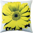Pillow Decor - Bold Daisy Flower Yellow Throw Pillow 20X20