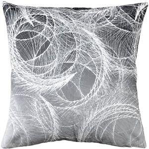 Pillow Decor - Feather Swirl Gray Throw Pillow 20x20  - SKU: SK1-0001-02-20