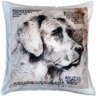 Pillow Decor - Labrador Dog Pillow 17x17  - SKU: LE1-0044-01-17