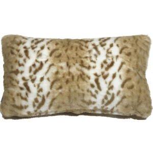 Pillow Decor - Tawny Lynx Faux Fur 12x20 Throw Pillow  - SKU: YB1-0006-01-92