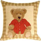 Pillow Decor - Tapestry Hello Teddy Pillow  - SKU: BA1-0001-01-13