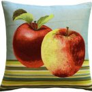 Pillow Decor - Fresh Apples on Blue 19x19 Throw Pillow - SKU: AB1-5298-01-20