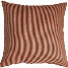 Pillow Decor - Ticking Stripe Sienna 15x15 Throw Pillow  - SKU: NB1-0004-02-15