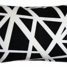 Pillow Decor - Bird's Nest Black Throw Pillow 12X20  - SKU: PD2-0050-05-92