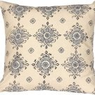 Pillow Decor - Medallion Handprint Lake 16X16 Throw Pillow