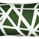 Pillow Decor - Bird's Nest Green Throw Pillow 12X20  - SKU: PD2-0050-04-92