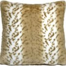 Pillow Decor - Tawny Lynx Faux Fur 20x20 Throw Pillow  - SKU: YB1-0006-01-20