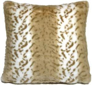Pillow Decor - Tawny Lynx Faux Fur 20x20 Throw Pillow  - SKU: YB1-0006-01-20