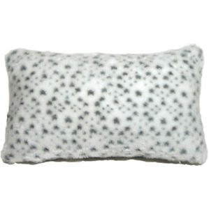 Pillow Decor - Snow Leopard Faux Fur 12x20 Throw Pillow  - SKU: YB1-0002-01-92