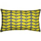 Pillow Decor - Mid-Century Modern Yellow Throw Pillow 12x20