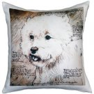 Pillow Decor - Westie Terrier 17x17 Dog Pillow  - SKU: LE1-0004-01-17