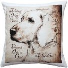 Pillow Decor - What Makes a Dog Throw Pillow 17x17  - SKU: LE1-0047-01-17
