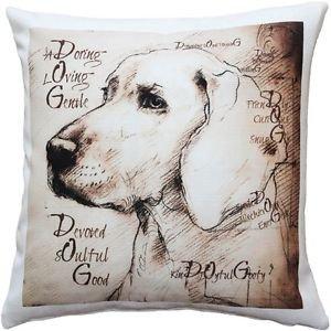 Pillow Decor - What Makes a Dog Throw Pillow 17x17  - SKU: LE1-0047-01-17