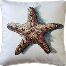 Pillow Decor - Ponte Vedra Star Fish Throw Pillow 20x20  - SKU: TC1-1012-01-20