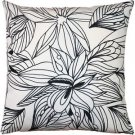 Pillow Decor - Pen and Ink Flowers Throw Pillow 20x20  - SKU: SK1-0004-01-20