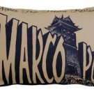 Pillow Decor - Marco Polo Theatre Restaurant 12x20 Taupe Throw Pillow