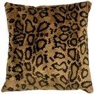 Pillow Decor - Snake Skin Velboa Faux Fur 20x20 Throw Pillow