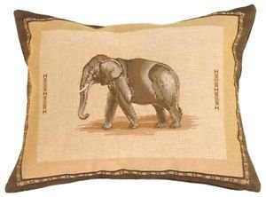 Pillow Decor - Elephant French Tapestry Throw Pillow  - SKU: AB1-7861-00-94