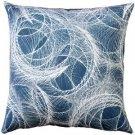 Pillow Decor - Feather Swirl Teal Throw Pillow 20x20  - SKU: SK1-0001-03-20