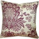 Pillow Decor - Rustic Floral Purple 20x20 Throw Pillow  - SKU: VC1-0003-01-20