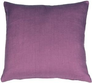Pillow Decor - Tuscany Linen Purple 20x20 Throw Pillow  - SKU: NB1-0005-02-20