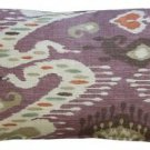 Pillow Decor - Solo Mulberry Ikat Throw Pillow 12x20  - SKU: WB1-0011-01-92