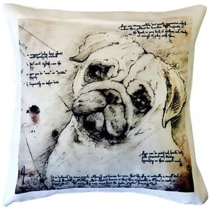 Pillow Decor - Pug 17x17 Dog Pillow  - SKU: LE1-0029-01-17