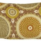 Pillow Decor - Bohemian Medallion Mulberry 12x20 Throw Pillow