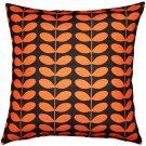 Pillow Decor - Mid-Century Modern Orange Throw Pillow 20x20