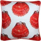 Pillow Decor - Big Island Bay Scallop Large Scale Print Throw Pillow 20x20