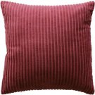 Pillow Decor - Cotton Corduroy Burgundy Throw Pillow 16x16