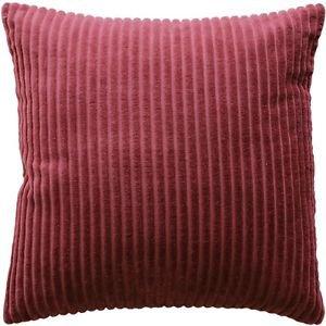 Pillow Decor - Cotton Corduroy Burgundy Throw Pillow 16x16