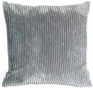 Pillow Decor - Wide Wale Corduroy Dark Gray 22x22 Throw Pillow