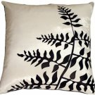 Pillow Decor - White with Black Bold Fern Throw Pillow  - SKU: KB1-0009-05-20