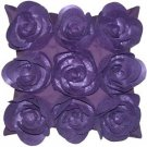 Pillow Decor - Felt Flowers in Purple 17x17 Throw Pillow  - SKU: HD1-0001-03-17