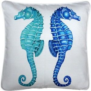 Pillow Decor - Capri Seahorse Reflect Throw Pillow 20x20  - SKU: TC1-3031-01-20