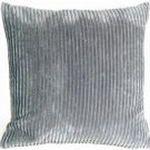 Pillow Decor - Wide Wale Corduroy Dark Gray 18x18 Throw Pillow
