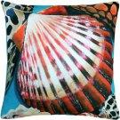 Pillow Decor - Newport Beach Bay Scallop Mix Pillow Throw Pillow 20x20